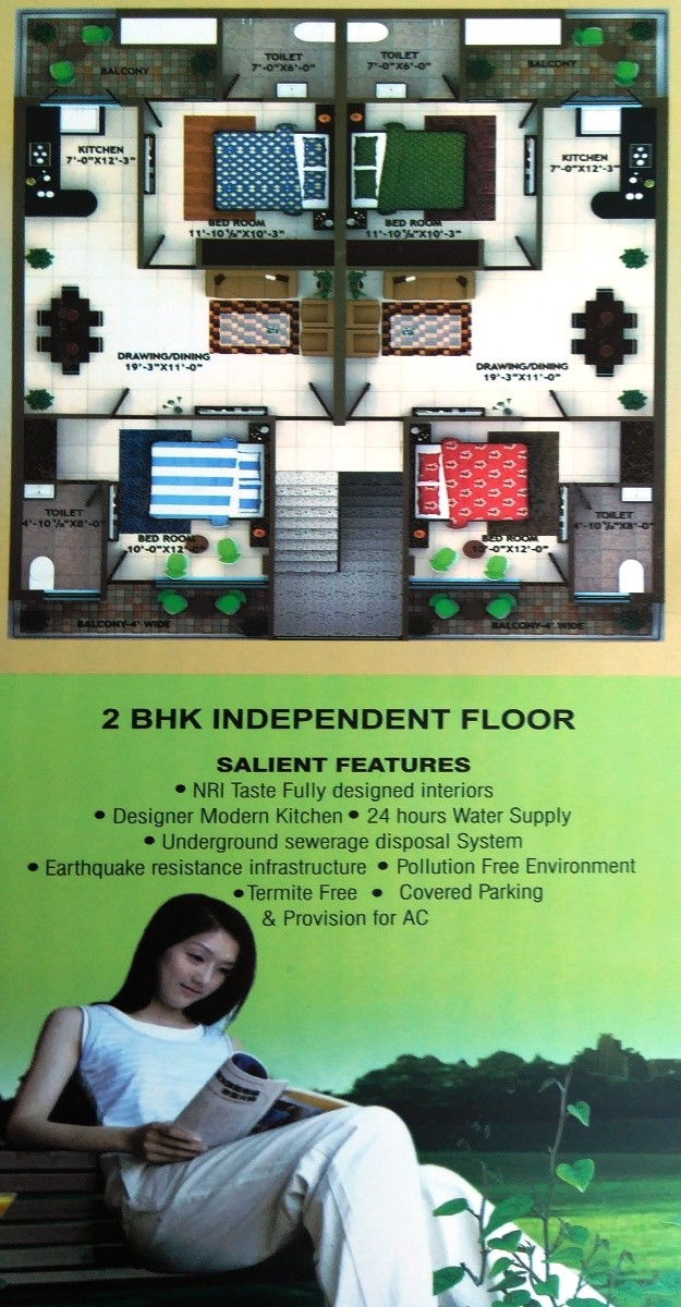 3 BHK Ready To Move Flats in Royale Garden