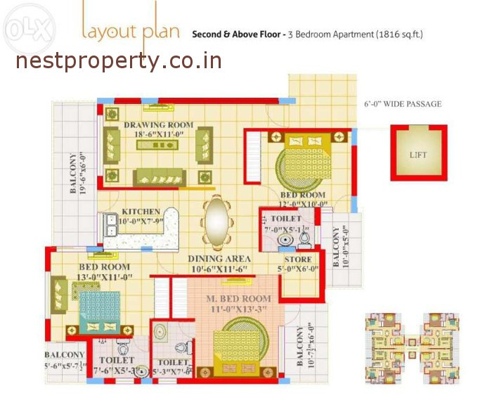 3-bhk-flat-at-maple-apartment-zirakpur-chandigarh
