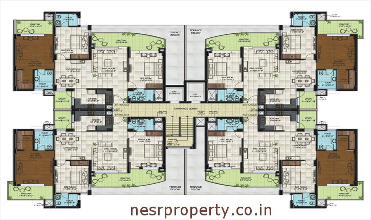 Golden-Sand-Appartments-Cluster-Plan