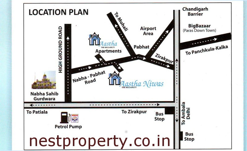 aastha-niwas-chandigarh-residential-property-location-map