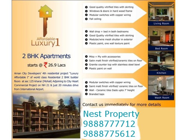 2 BHK Ready To Move Flats in Aman City