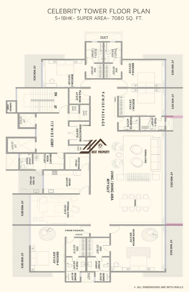 3 Bhk 4 Bhk 5 Bhk Super Luxury Flats In Gold Mark At