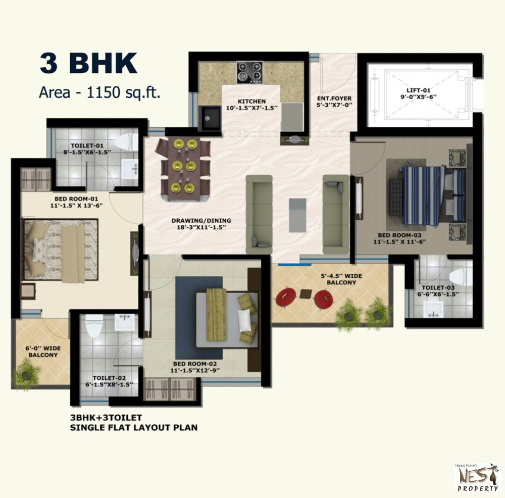 2 bhk Flats In New Chandigarh at Mullanpur